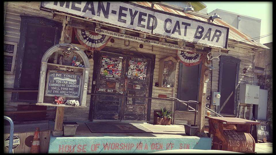 The Mean-Eyed Cat in #Austin TX. Love this bar/Johnny Cash shrine.