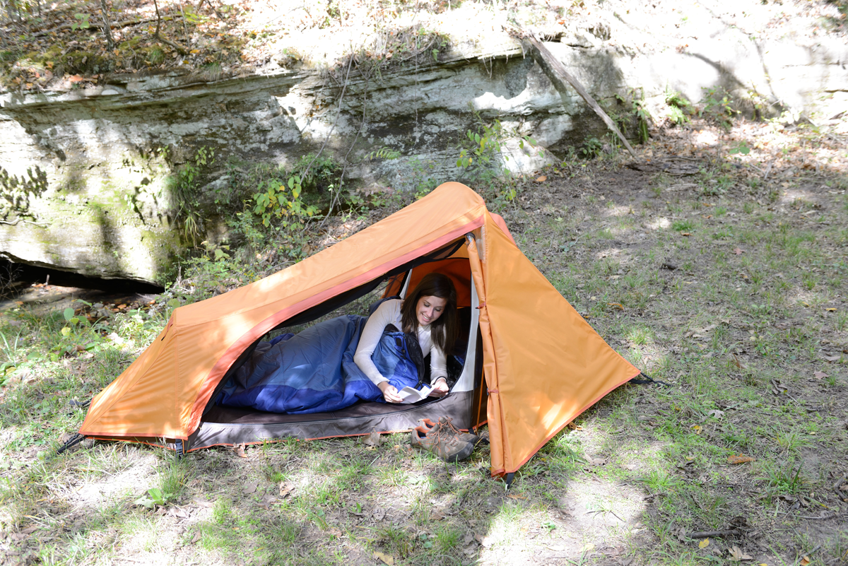 ALPS Mystique Lightweight Tent - great for one person after a long day of hiking & ALPS Mystique Lightweight Tent - great for one person after a long ...