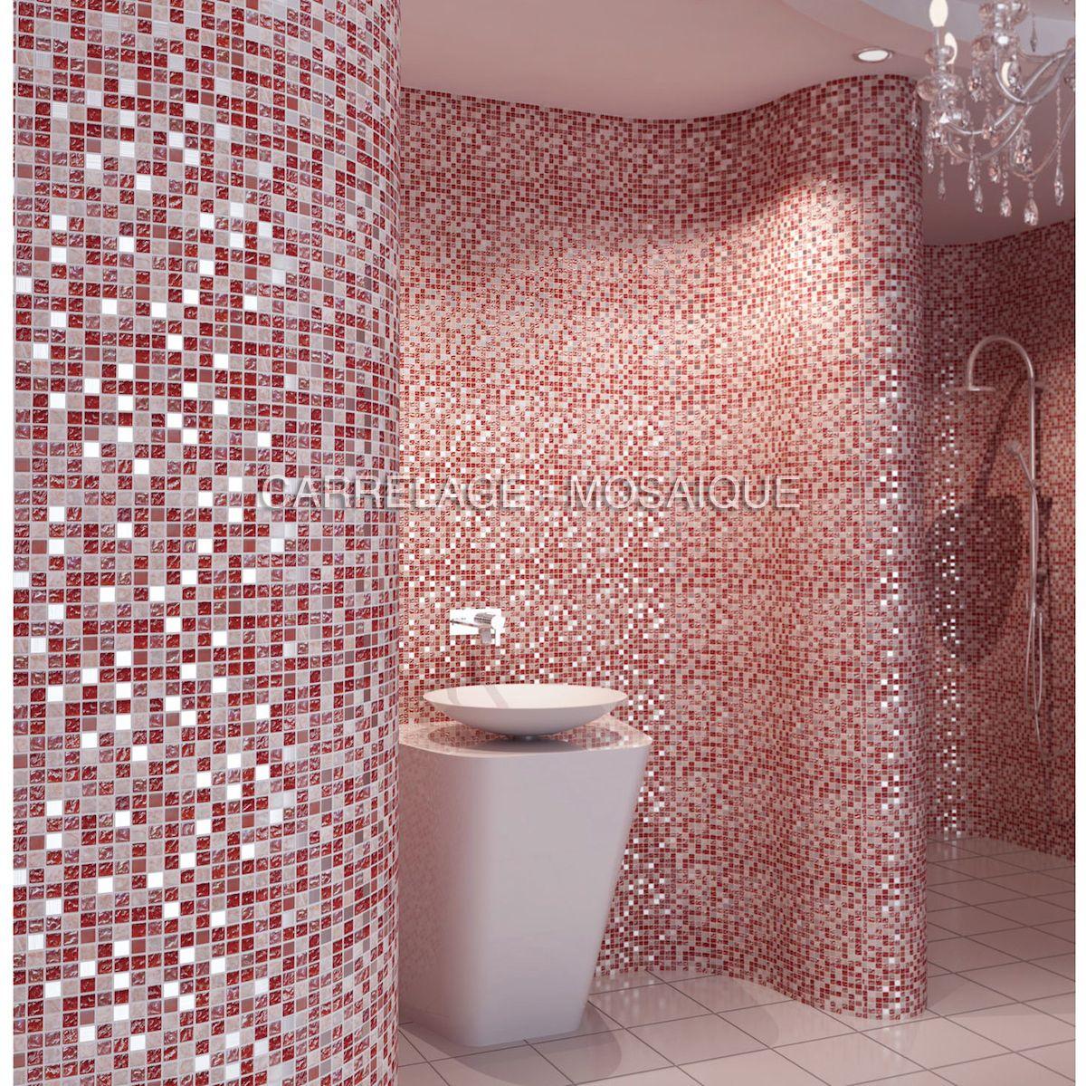 Mosaique En Marbre Et Verre Pour Sol Et Mur A Poser Dans Une Douche Italienne Et Salle De Bain Mod Agencement Salle De Bain Mosaique En Marbre Mosaique Douche