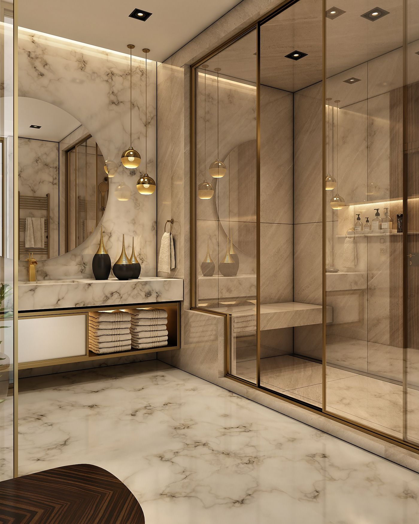 Luxurious Bathroom On Behance Bathroom Design Luxury Bathroom Interior Design Modern Bathroom Design