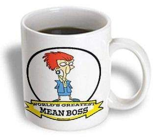 3drose Funny Worlds Greatest Mean Boss Lady Cartoon Ceramic