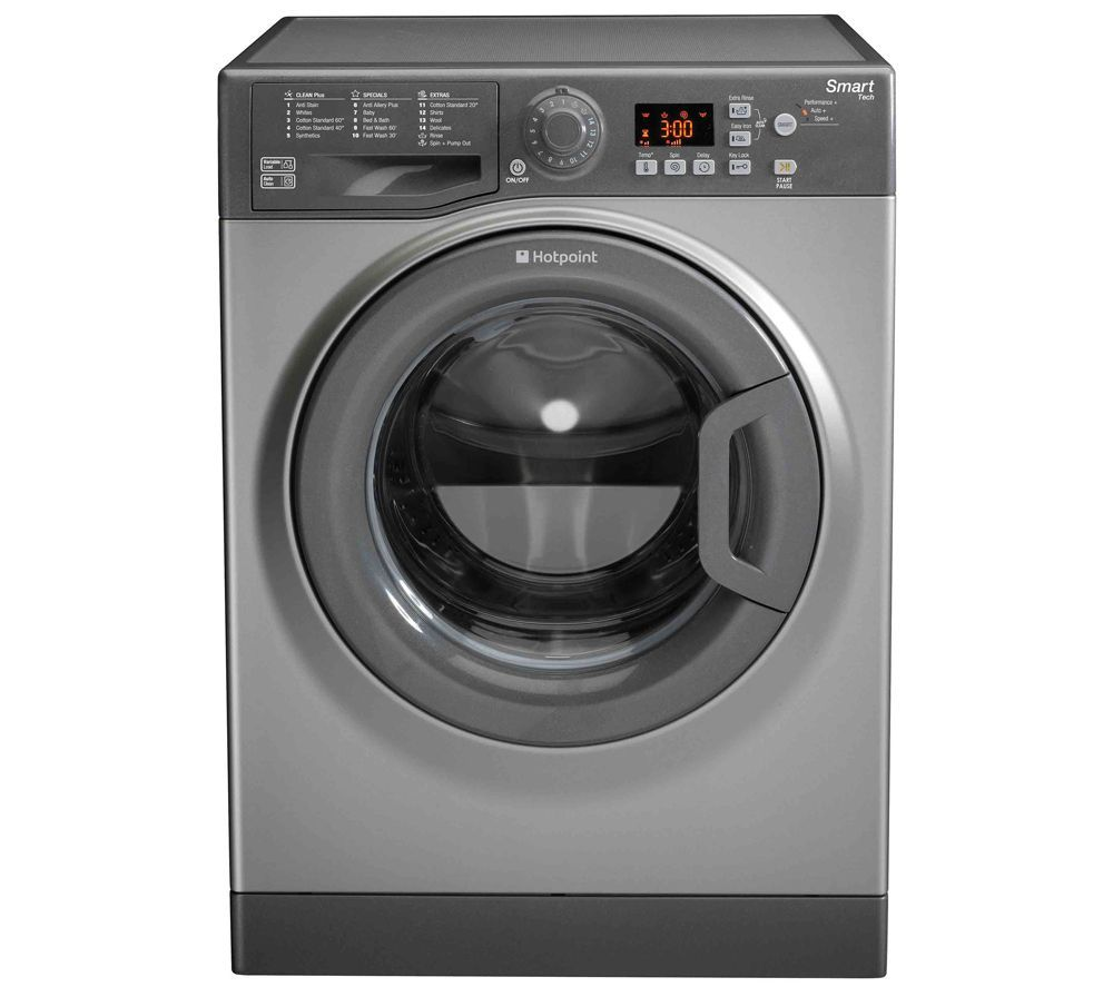 Hotpoint Wmfug742g Smart Washing Machine Graphite Washing