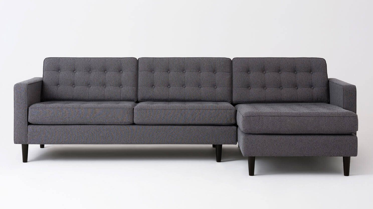 Reverie Apartment 2 Piece Sectional Sofa With Chaise Fabric