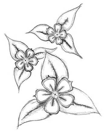 Easy Drawings Of Flowers For Kids Simple Flowers By Balloon With