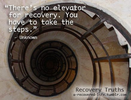 There's no elevator for recovery. You have to take the steps. #mentalhealth #recovery