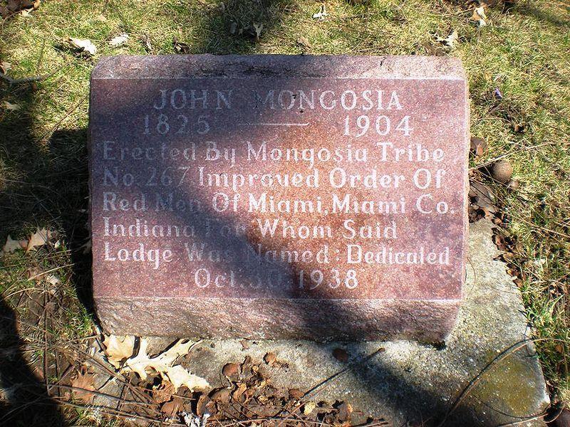 Grave of John Mongosia 1825-1904, Miami Indian, Chief Francis Godfroy Cemetery, Miami County, Indiana