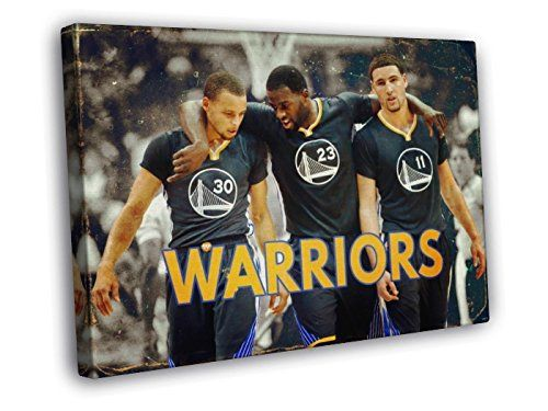 78ea29cc4d4 Golden State Warriors Vintage Painting Art Steph Stephen Curry Klay  Thompson Draymond Green 30x20 Framed Canvas