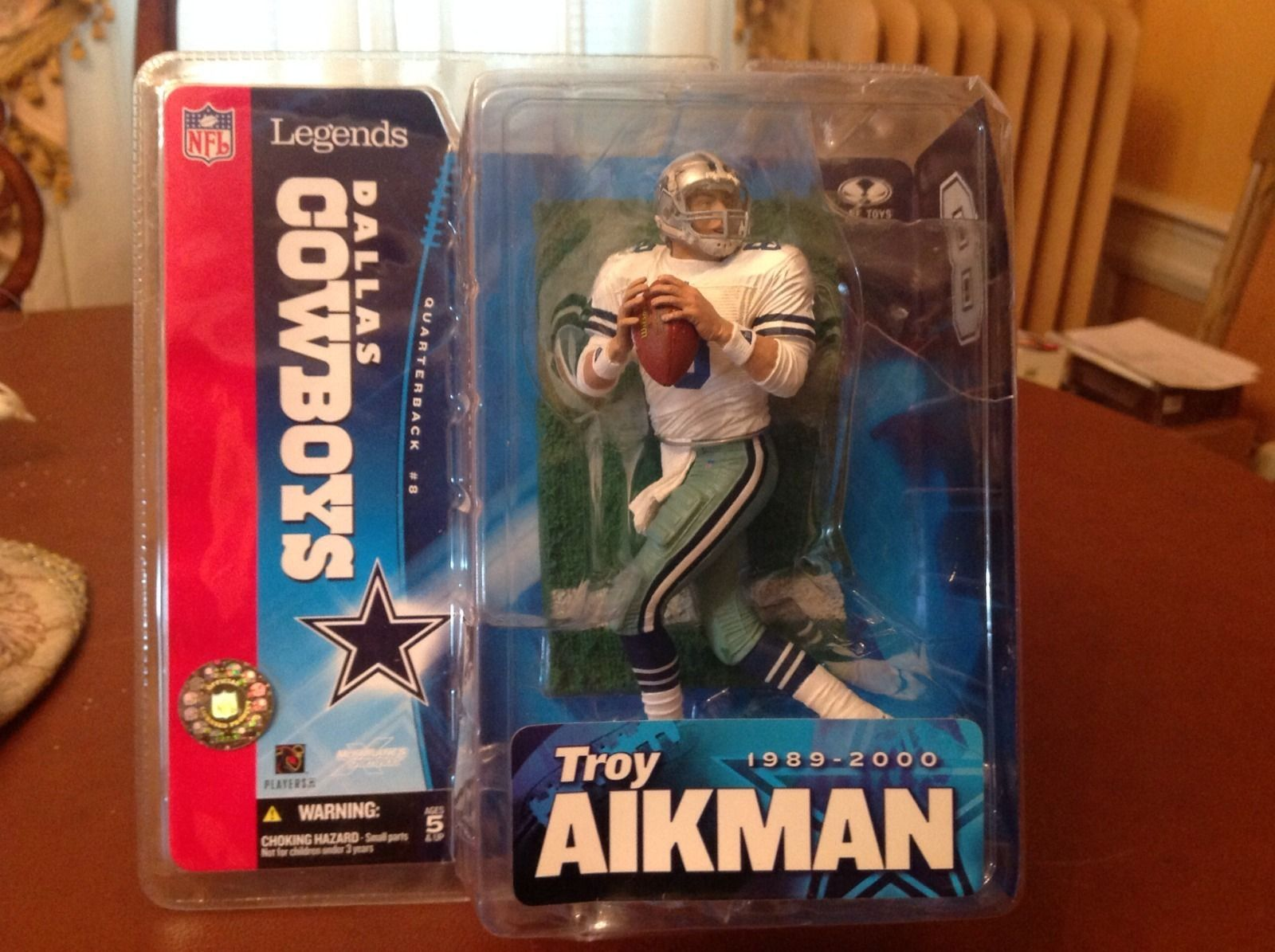 Troy Aikman Mcfarlane NFL Legend Series 1 Dallas Cowboys White ...