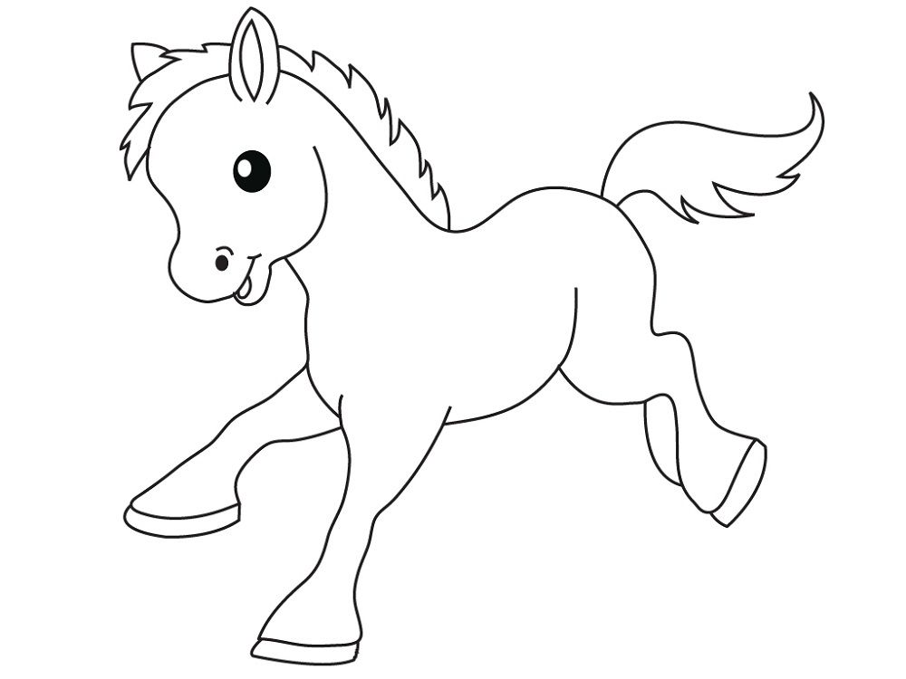 Cartoon Horse Coloring Pages K5 Worksheets Farm Animal Coloring Pages Animal Coloring Pages Coloring Pictures Of Animals