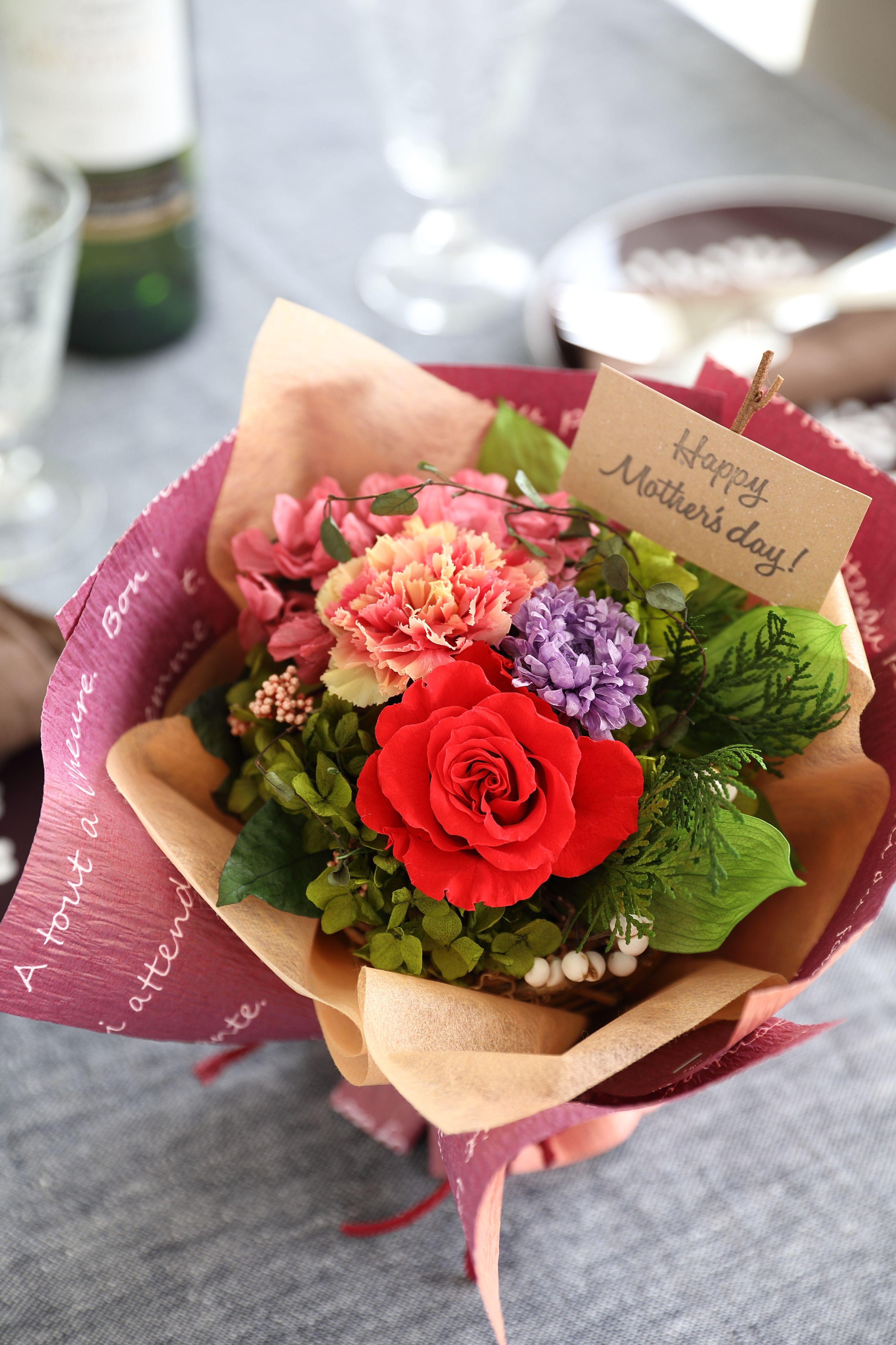 特別な日に贈るプリザーブドフラワーのフェリーチェ ブーケ 幸せなブーケ ブーケ プリザーブドフラワー 記念日