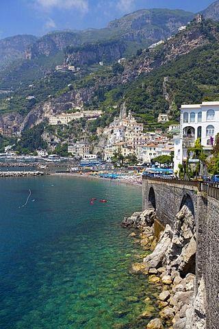 Amalfi, Costa de Amalfi, la Unesco Patrimonio de la Humanidad, Provincia de Salerno, Golfo de Salerno, Campania, Italia, Europa