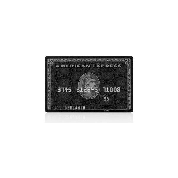 American Express Black Card Liked On Polyvore Featuring Money Accessories Other Credit Cards And Fillers Kartu Kredit