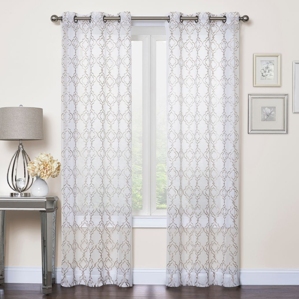 Product Image For Callahan Embroidered Grommet Top Sheer Window