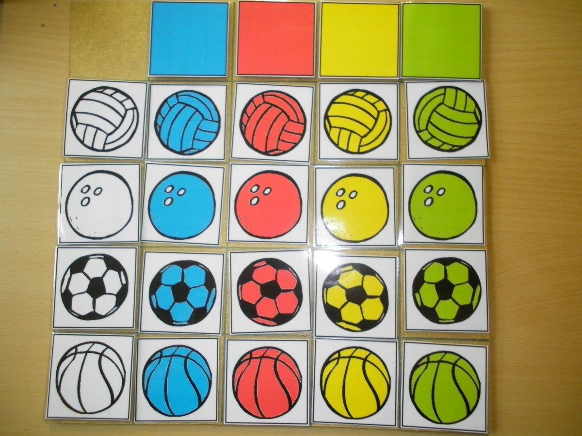 Matrix Verschillende Soorten Ballen En Kleur Liestr