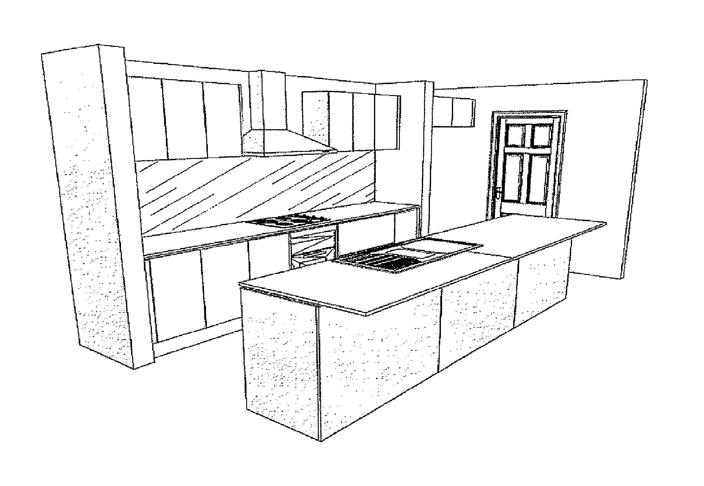 Easy Kitchen Design Sketch