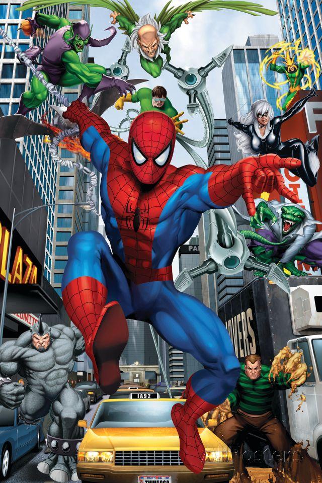 Spider-Man, Doctor Octopus, Green Goblin, Vulture, Black ...