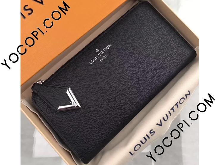 013f1d897cf9 【M60146】 LOUIS VUITTON ルイヴィトン 長財布 スーパーコピー ポルトフォイユ・コメット その他レザー ヴィトン レディース  ラウンドファスナー財布 3色 ノワール