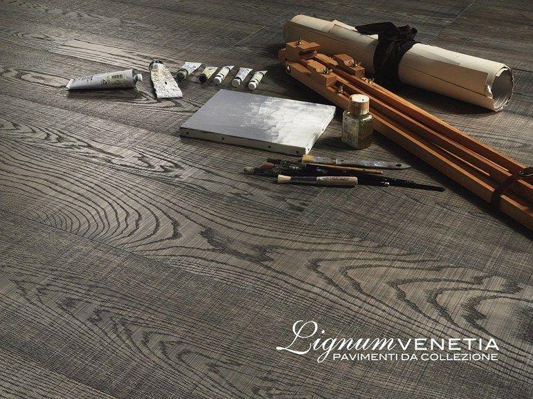 Brushed oak parquet CREATIVO by Lignum Flooring