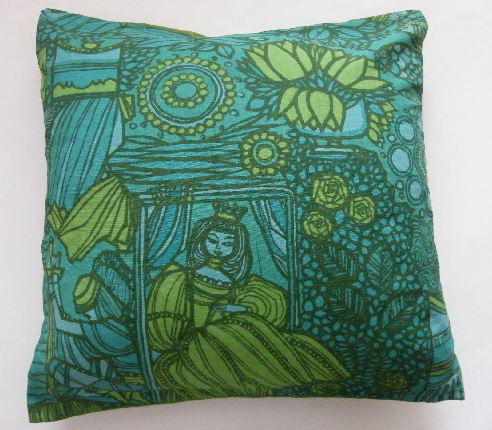 "cushion cover made from ""Legend"" fabric by Göta Trädgårdh - gorgeous!"