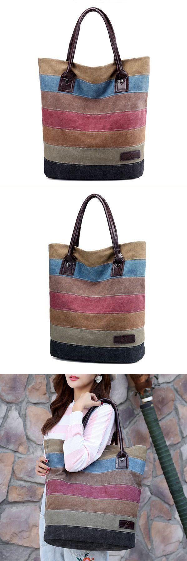 Triple 7 handbags women stripe leisure canvas tote handbags travel tote bags   86  handbags 4461dbfeae