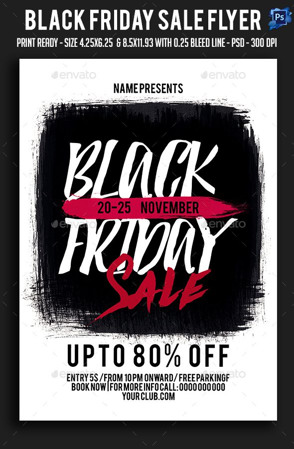 Black Friday Sale Flyer Template Psd Flyer Templates Pinterest