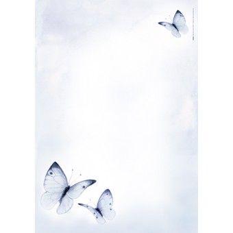 Floris Briefpapier A4 Vlinders