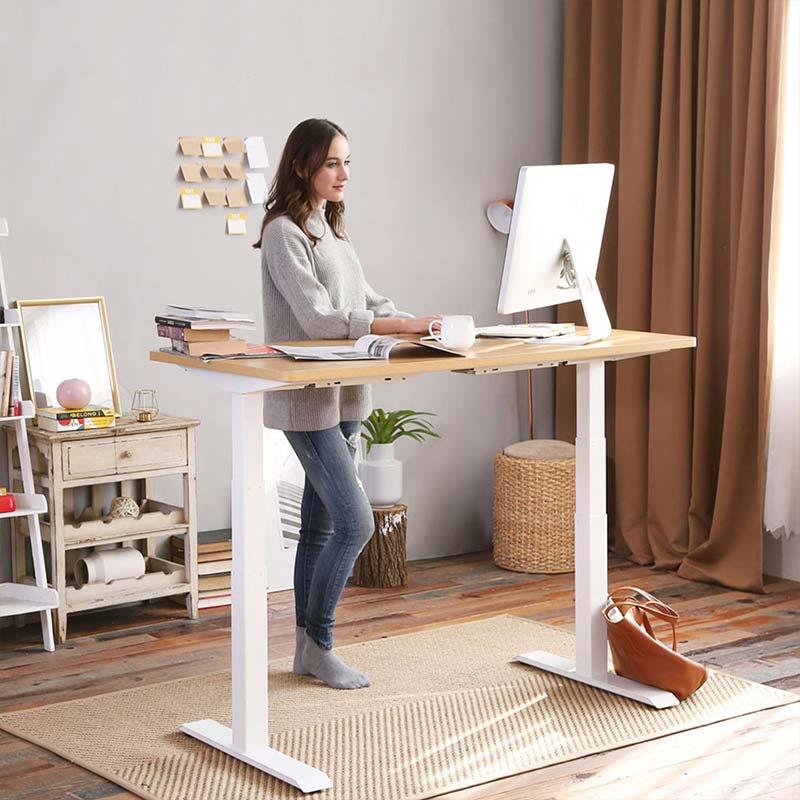 Rectangular Electric Height Adjustable Standing Desk Flexispot Standing Desk Office Adjustable Standing Desk Adjustable Height Desk