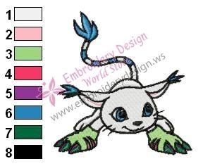 Digimon Gatomon Embroidery Design