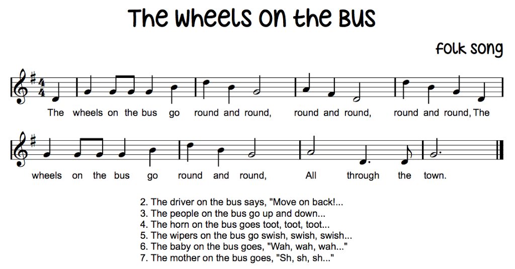 The Wheels on the Bus - Cool way to teach instrument names for ...