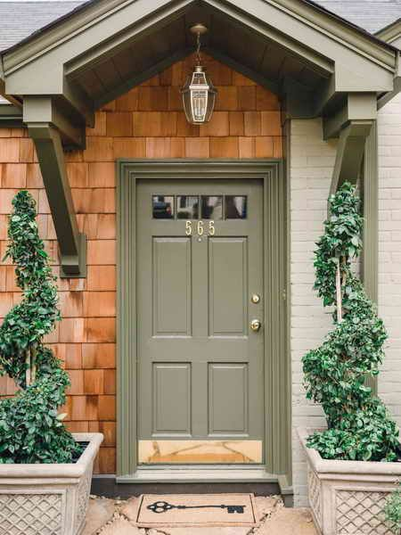 Door Windows Front Color Dark Brown House Colorful Ideas For