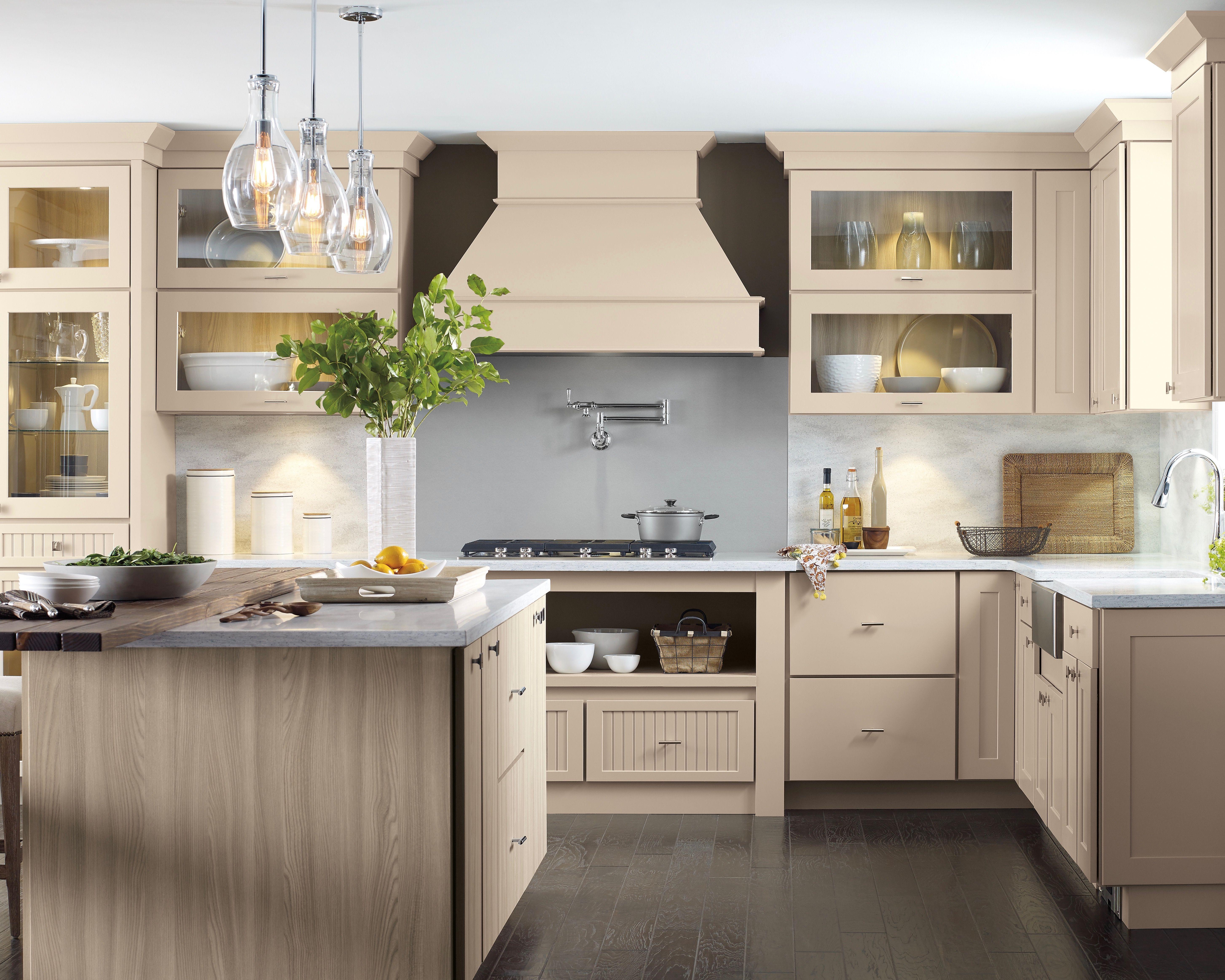 Home Beige Cabinets Laminate Kitchen