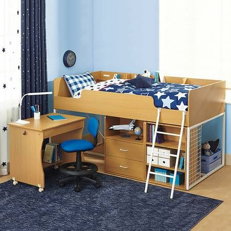 Bed Loft Nitori System Bed Desk And A Chair Bed Desk Desk Home