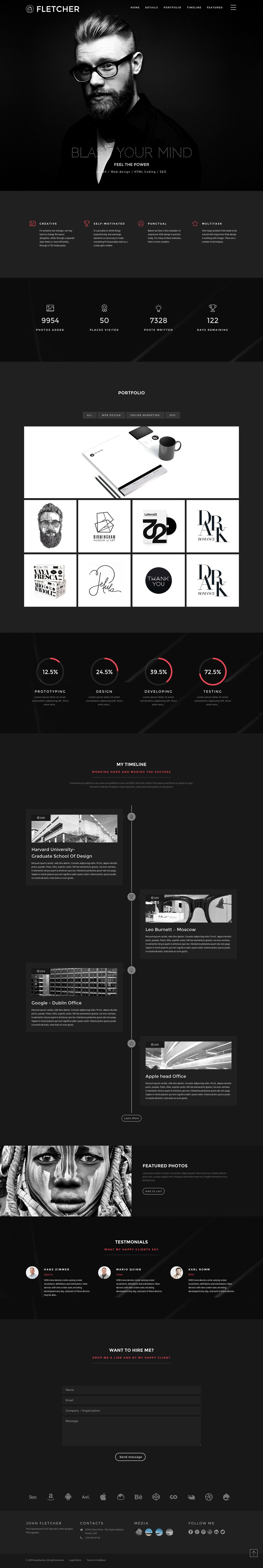 39 fletcher 39 is a one page html template that aims to for Pres a ply templates