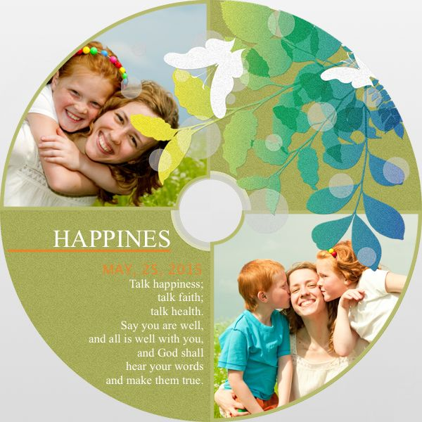 Talk happiness, faith and health with this designed #DiskCover