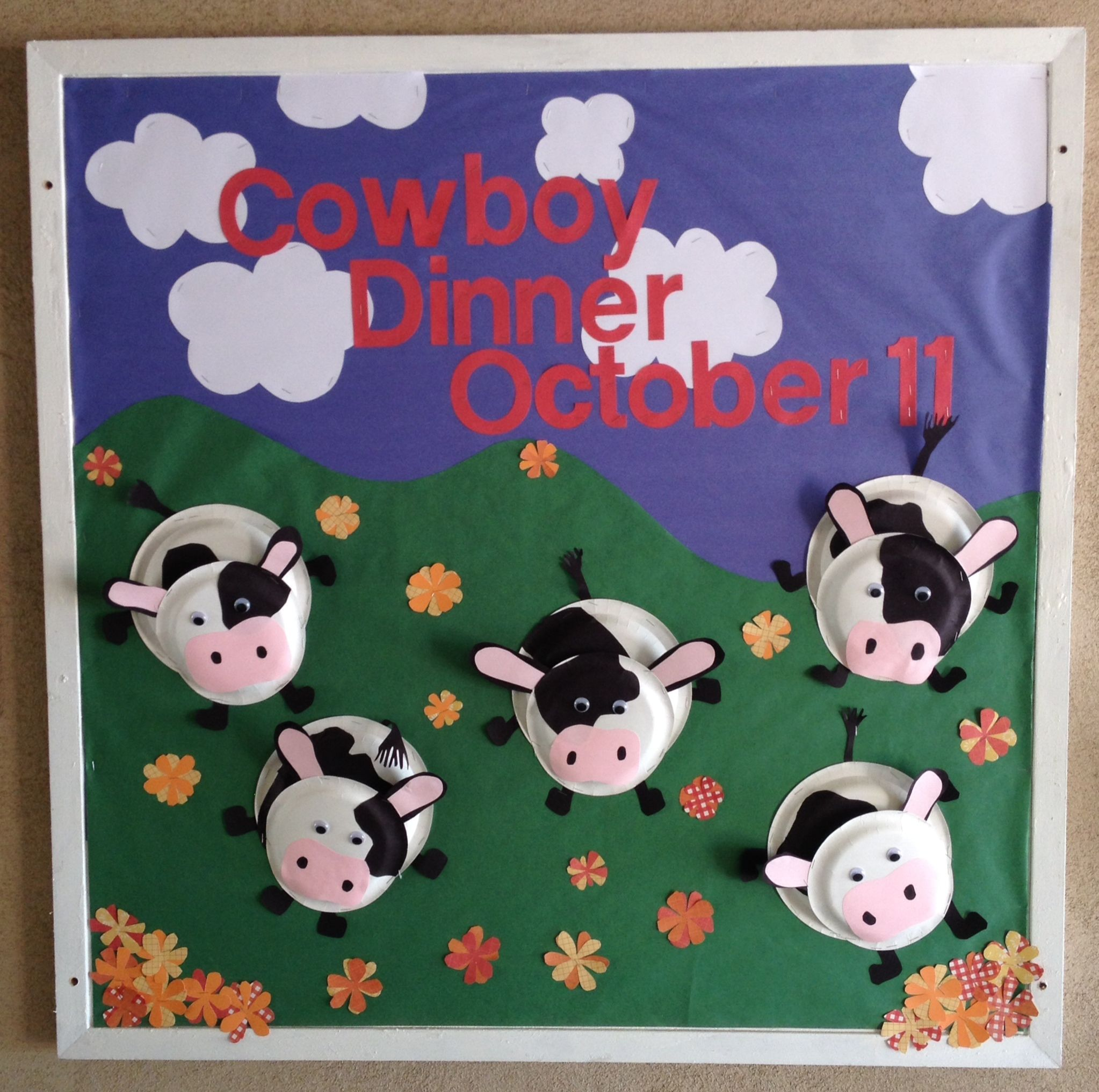 Paper Plate Cow Bulletin Board For Our School Western