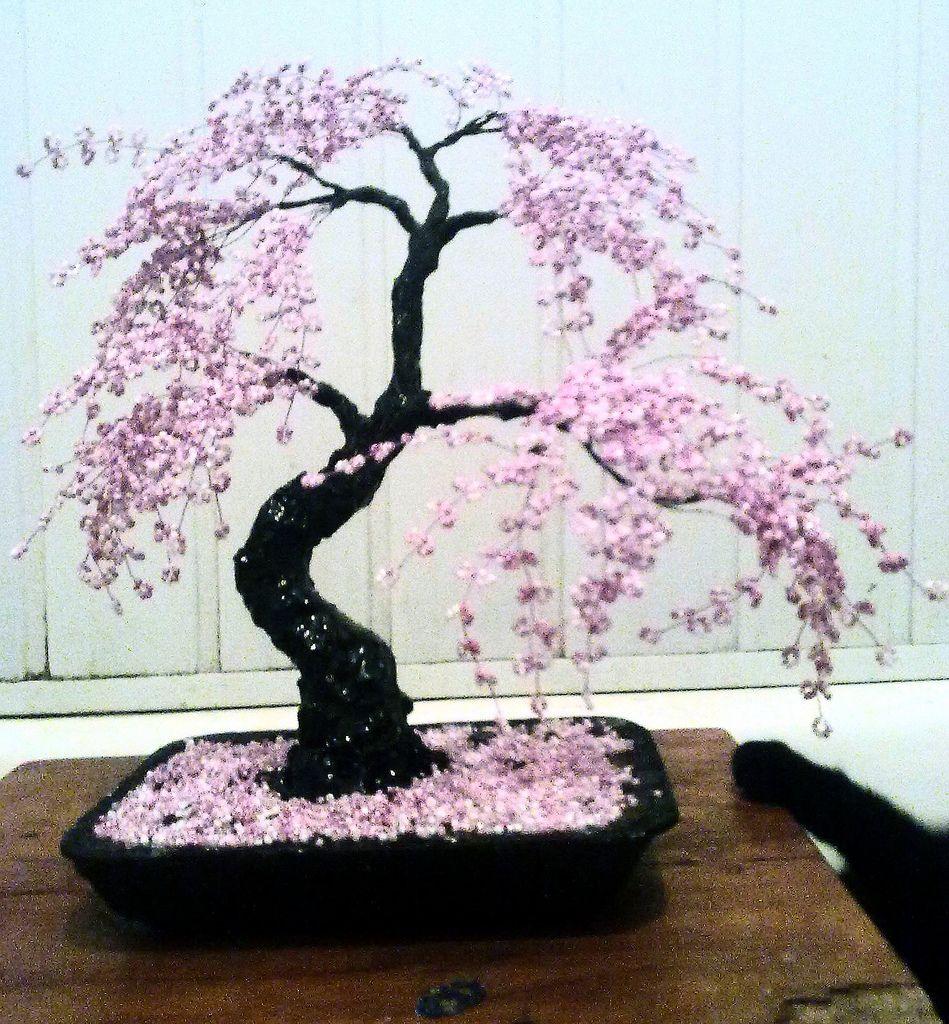 Bonsai Beaded Tree Home Decor Sakura Bonsai Bonsai Tree Beautiful Flowers