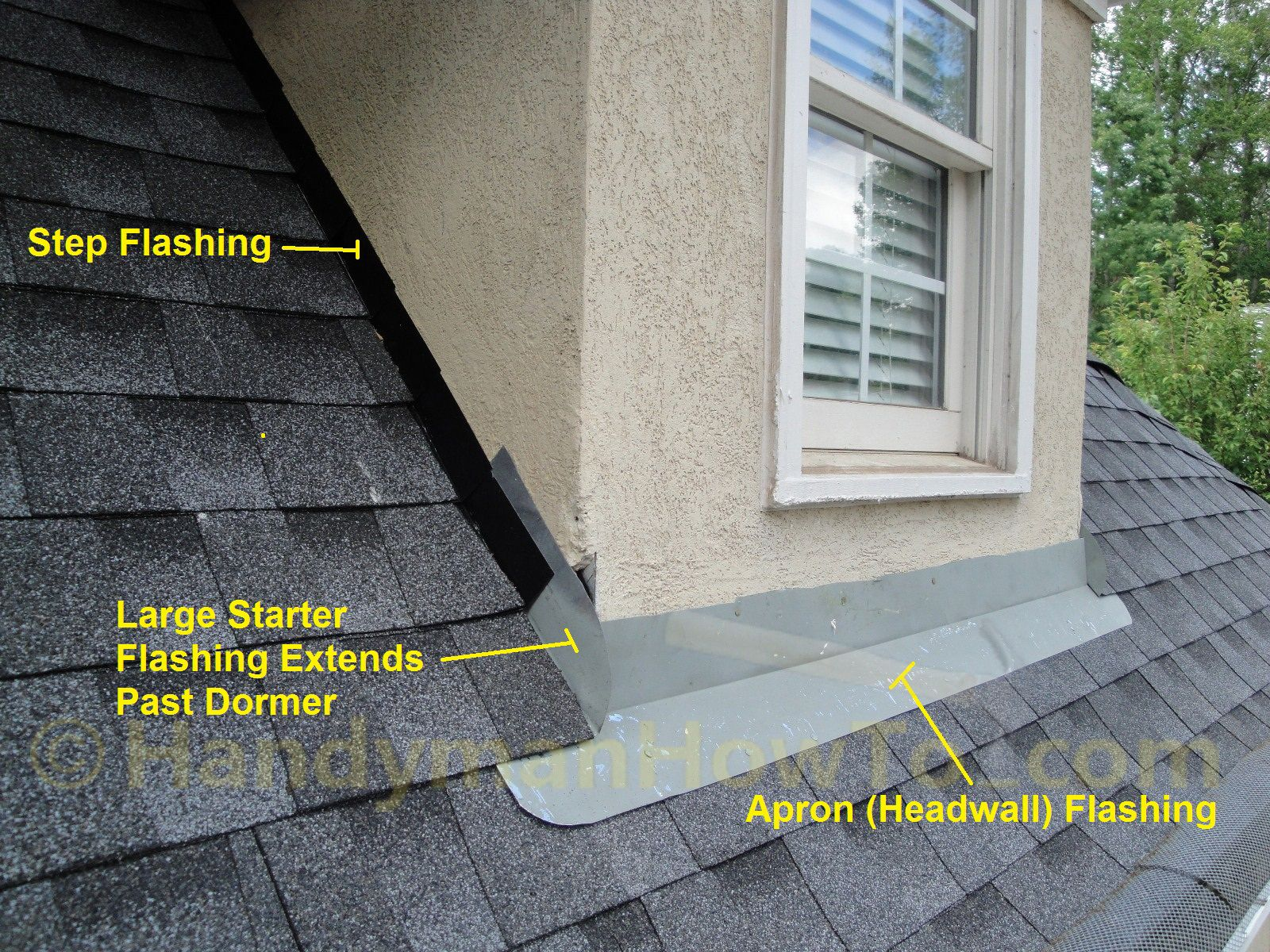 Dormer Roof To Wall Apron Flashing Entry Roof Flashing