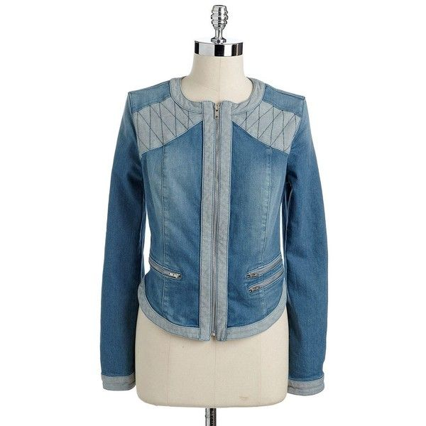 GUESS Showgirl Denim Jacket found on Polyvore