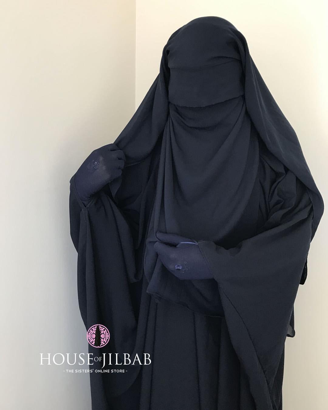 tag someone who likes blue 💙 extra long flap niqab navy