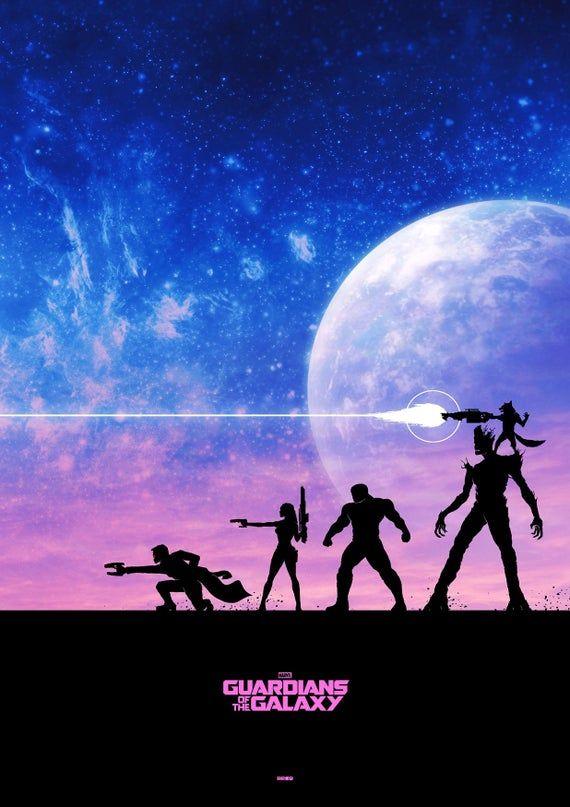 Guardians Of The Galaxy Abstract Alternative Star Lord Gimora Drax Rocket Groot Movie Film Cover Art Graphic Minimalist Minimal Poster Print