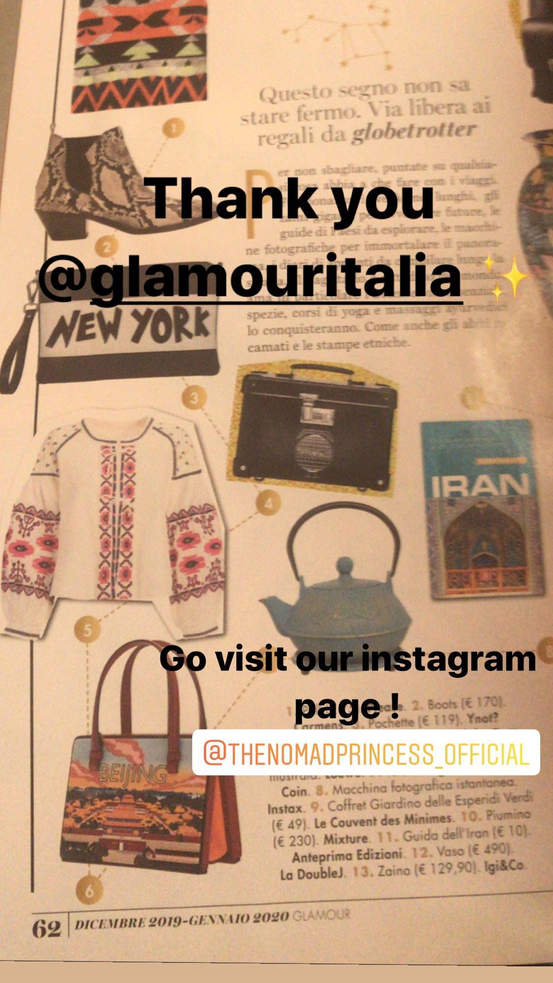 Thank you @glamouritalia ✨