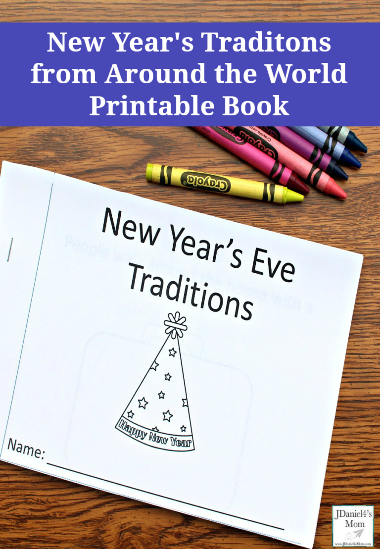 New Year S Eve Traditions Around The World Printable Book New Years Eve Traditions New Year S Eve Activities New Year S Eve Crafts
