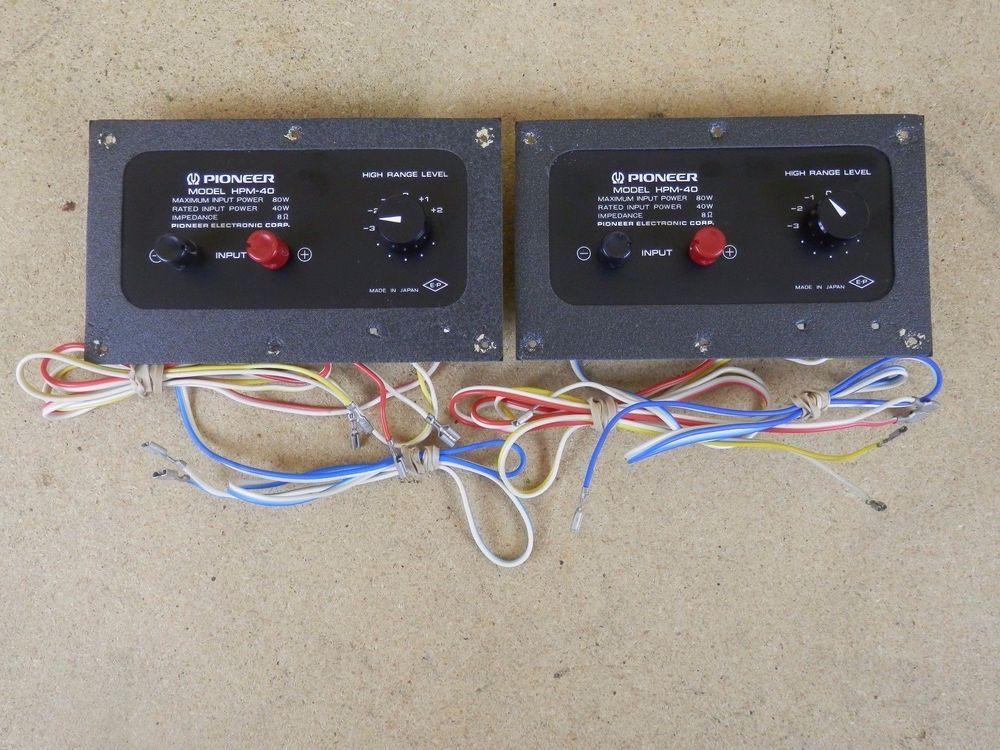 Vintage Pair of Pioneer HPM-40 Crossover w  Speaker Connectors - new blueprint digital timer 240v