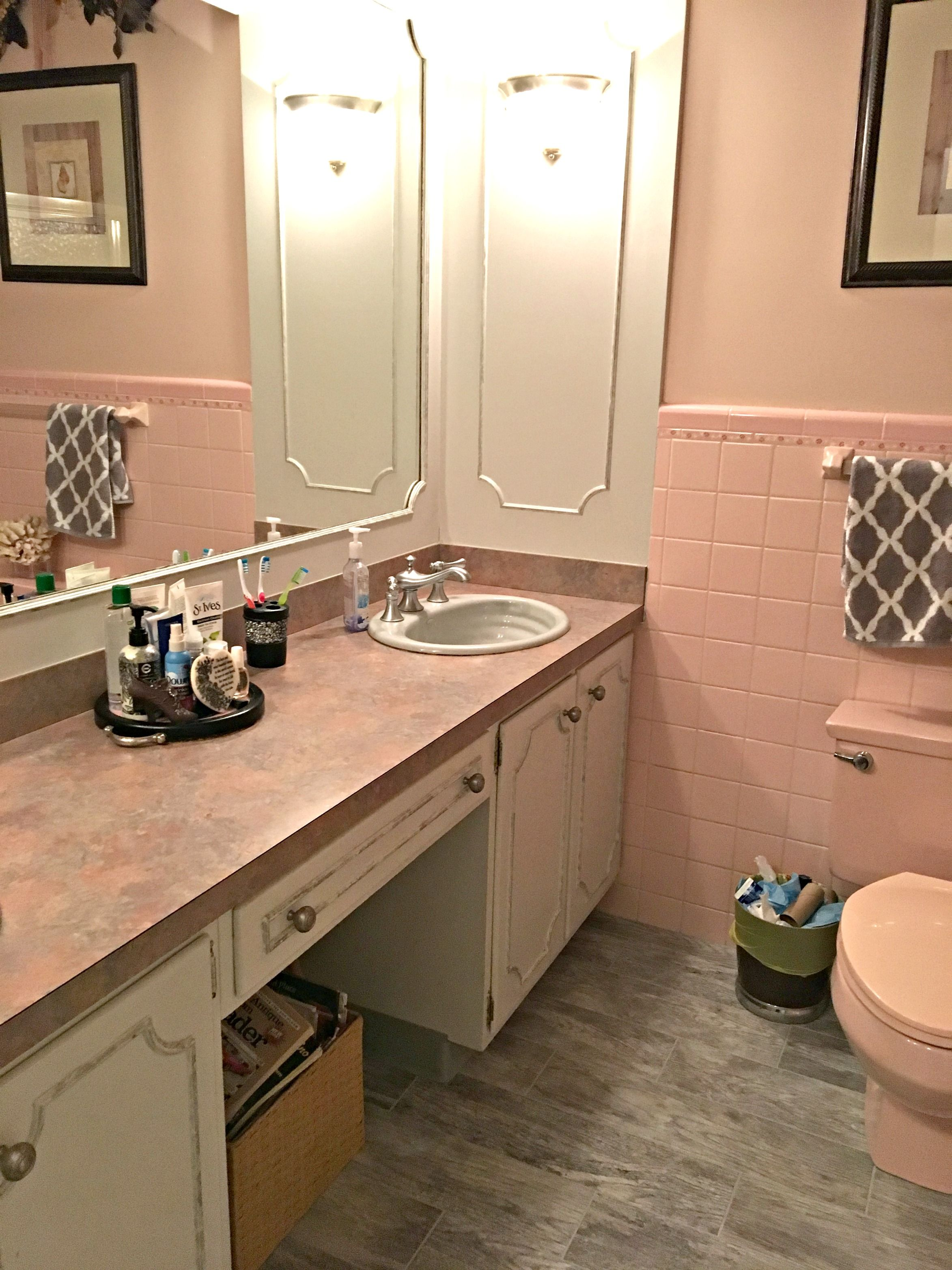 The Best Paint Colours To Update A Pink Or Dusty Rose Room Pink Bathroom Pink Bathroom Tiles Black And White Tiles Bathroom