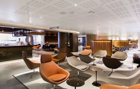 Qantas Opens New Los Angeles Business Lounge Airport Lounge Lounge Lounge Design