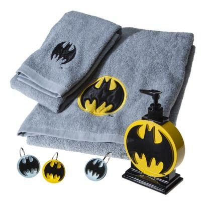 Batman Towel Set Alex S Guest Bathroom Batman Bathroom Batman