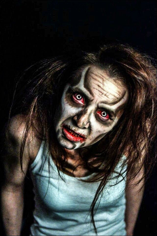 Halloween Looks Scary.Zombie Face Paint Lost Spirit In 2019 Halloween Makeup