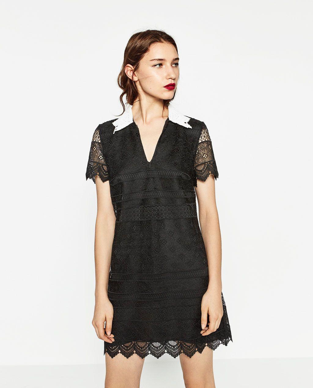 SHORT LACE DRESS-DRESSES-WOMAN  ZARA United States  Kleid spitze