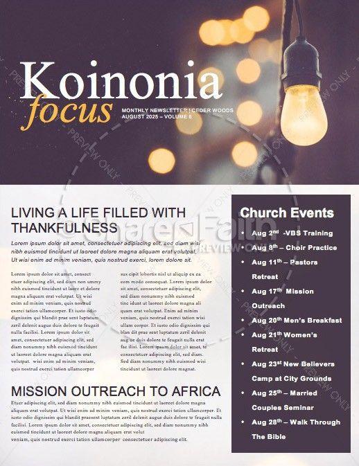 Be The Light Church Newsletter Template | Church publication ideas ...