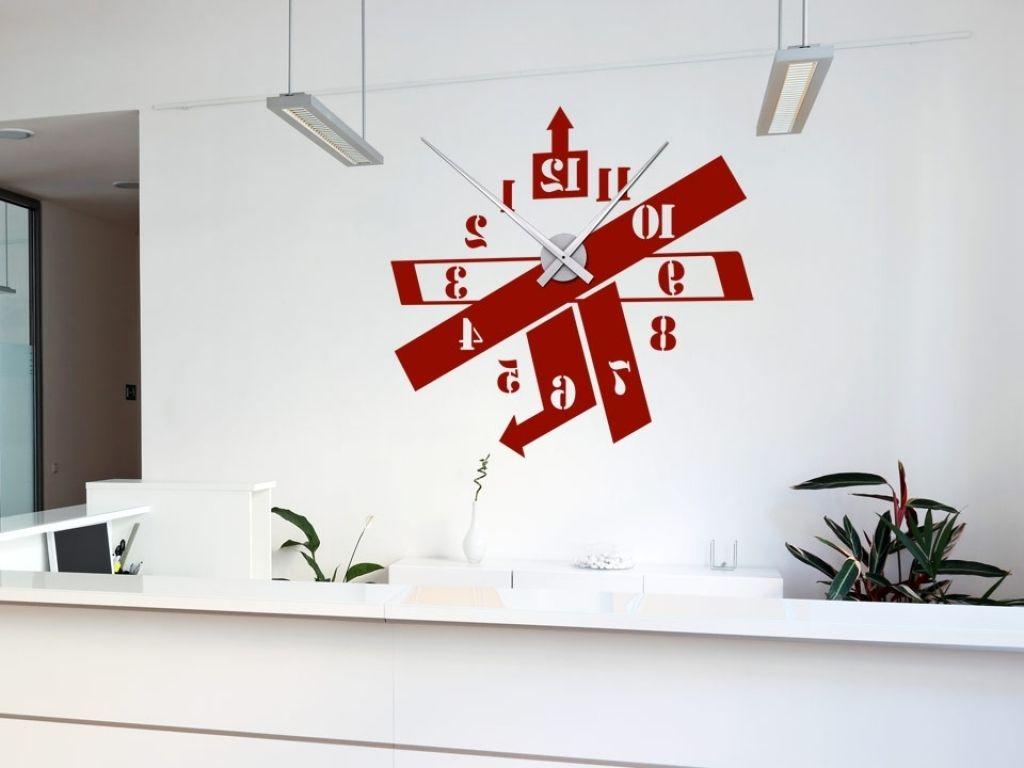 Moderne Wohnzimmer Uhren Visual Brown 4446 Dixtime Wanduhr